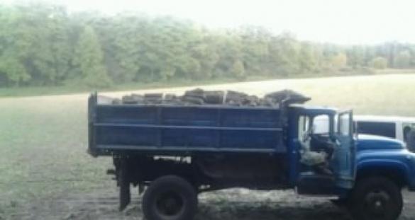 На Черкащині злочинці вантажівкою вивозили дерева (фото)