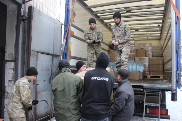 З Черкас до Авдіївки відправили черговий вантаж з гуманітарною допомогою