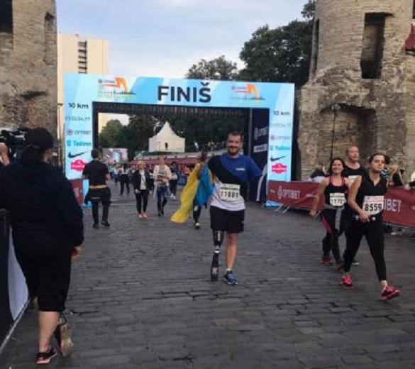 Черкаський АТОвець без руки і ноги пробіг марафон у Талінні