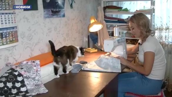 Черкащанка заради безпритульних котів шиє екоторбинки (ВІДЕО)