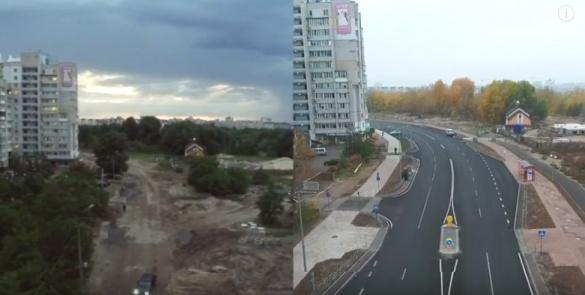 У мережі показали, якою була і стала вулиця Героїв Дніпра у Черкасах (ВІДЕО)