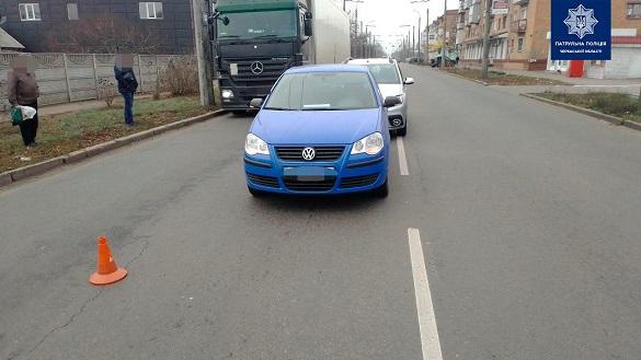 У Черкасах водій не дотримавася безпечної дистанції та скоїв ДТП