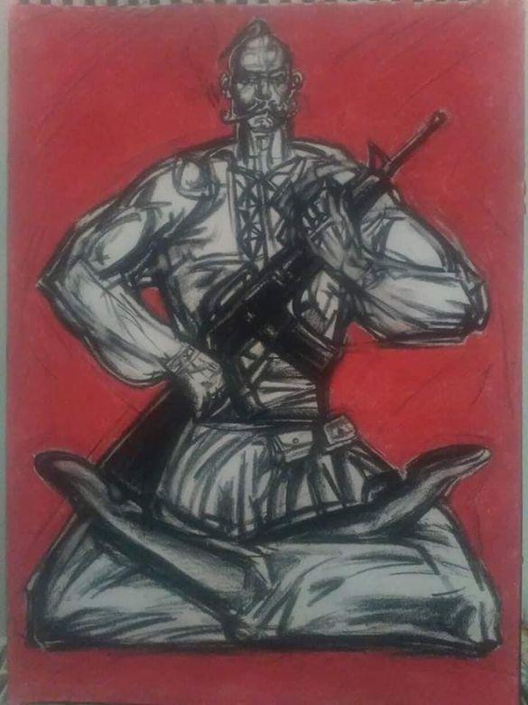 Черкаський скульптор продає картини, щоб назбирати коштів на виставку у столиці