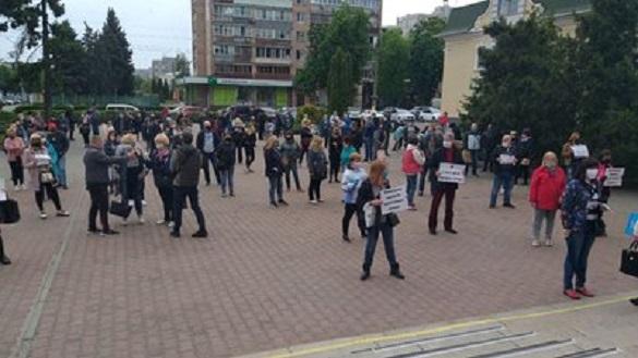 У Черкасах підприємці вийшли на мітинг (ФОТО)