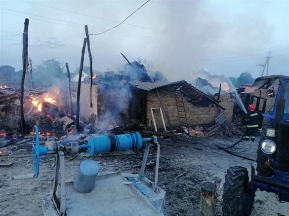 Дитячі пустощі з вогнем призвели до пожежі на Черкащині (ФОТО)