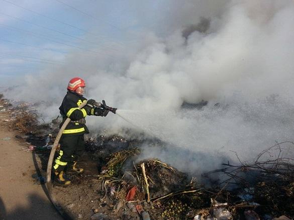На Черкащині двічі горіли сміттєзвалища (ФОТО, ВІДЕО)