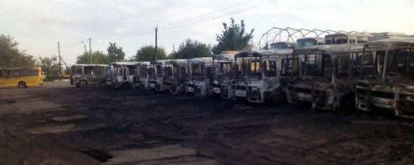 У поліції пожежу автобусів у Золотоноші пов'язують із навмисним підпалом