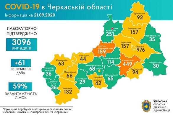 COVID-19: географія поширення хвороби на Черкащині