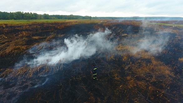 У Черкаській області сталася пожежа торфу