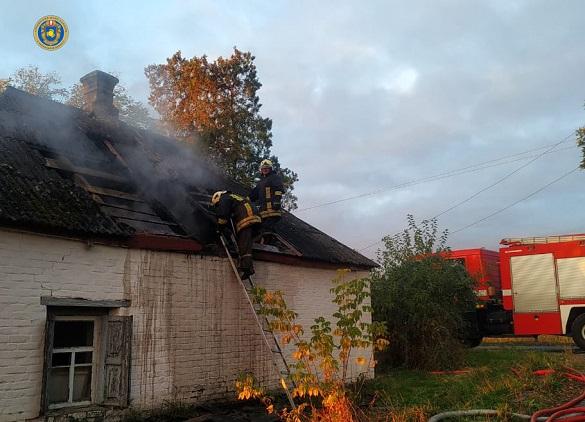 У Черкаській області загорілося горище будинку