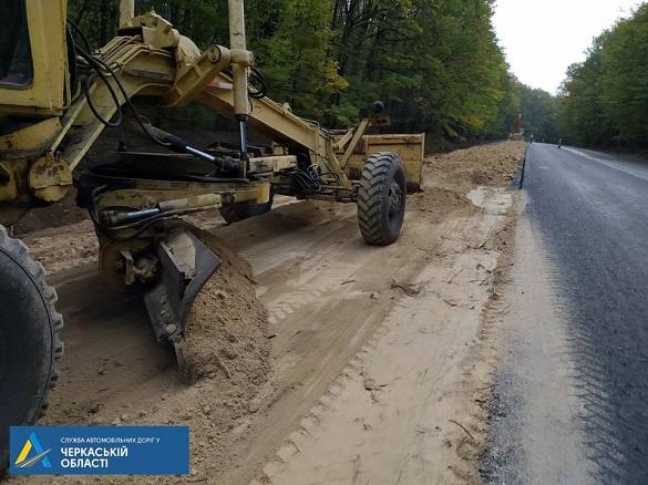 У Черкаській області ремонтують дорогу міжнародного значення (ФОТО)