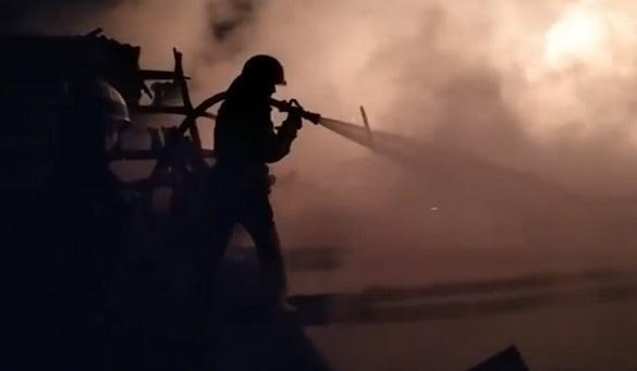На Черкащині сталася пожежа на фермі (ВІДЕО)