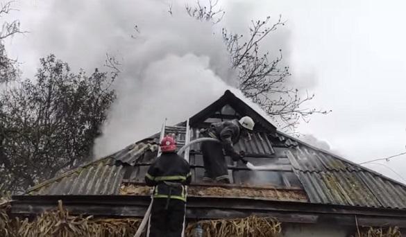 Через пічне опалення на Черкащині горів житловий будинок (ВІДЕО)