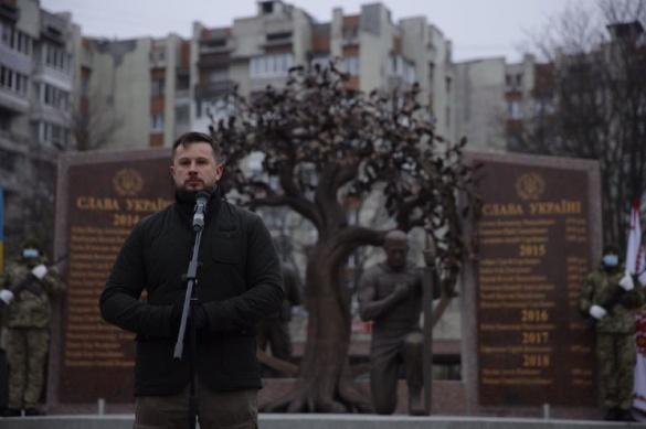 Андрій Білецький на відкритті меморіалу загиблим воїнам: