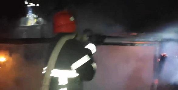 У Черкаській області сталася пожежа в надвірній споруді
