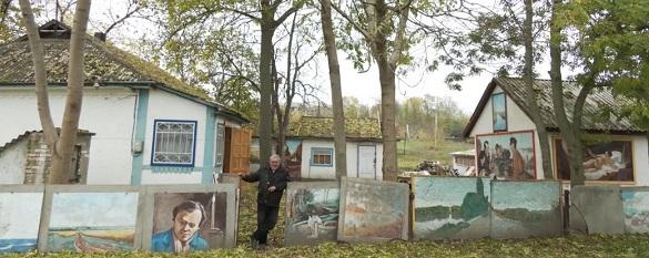 Картини просто неба: черкащанин перетворив своє подвір'я на галерею (ФОТО)