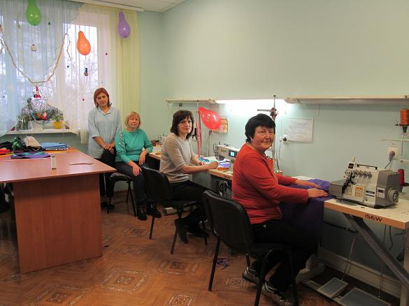 У будинку-інтернаті на Черкащині оновили швейну майстерню