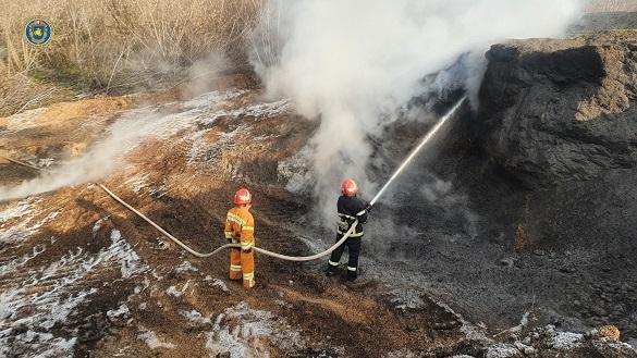 На Черкащині загорілися зернові відходи (ФОТО)