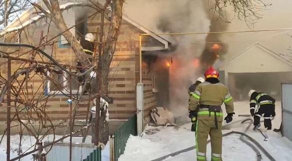 Через пічне опалення на Черкащині загорівся будинок (ВІДЕО)