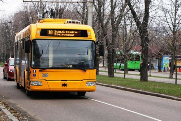 Один із тролейбусних маршрутів Черкас сьогодні змінить напрямок руху