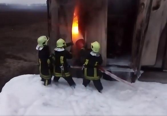 У Черкаській області невідомі спалили трансформаторну підстанцію (ВІДЕО)