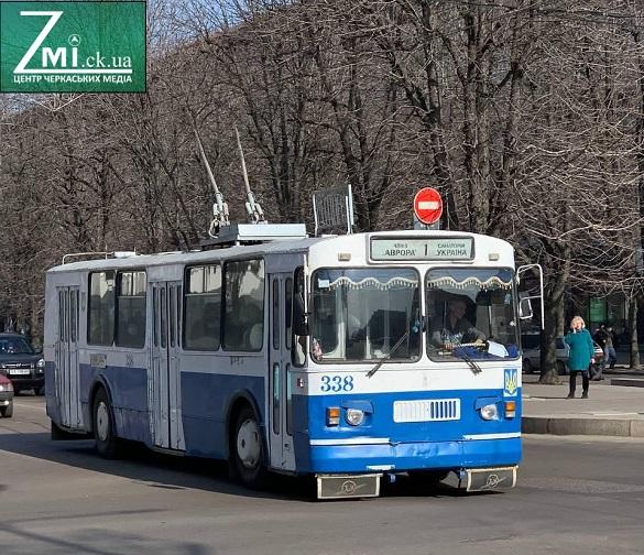 У Черкасах деякі тролейбуси тимчасово змінять схему руху