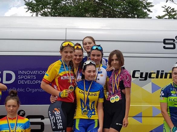 Команда юних черкаських велосипедисток стала