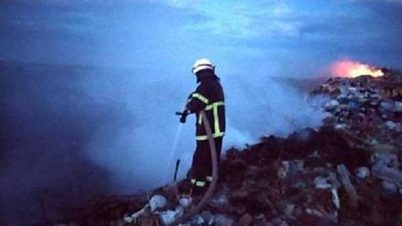 Через необережність у Черкаській області горіло сміттєзвалище