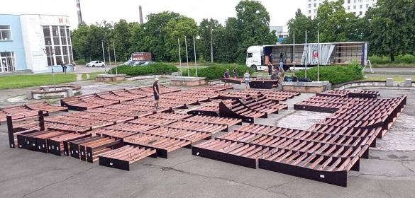 У Черкасах почали монтувати скейт-парк (ФОТО)