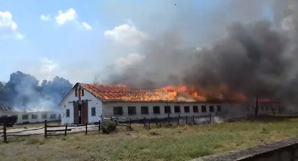 Через необережність на Черкащині загорілась ферма (ФОТО)