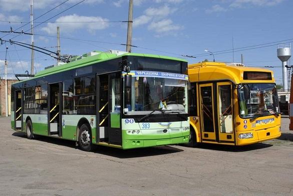 Сьогодні деякі тролейбуси в Черкасах їздитимуть за іншим графіком