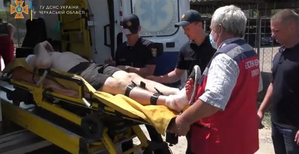 Біля пляжу в Черкасах травмувався чоловік (ВІДЕО)