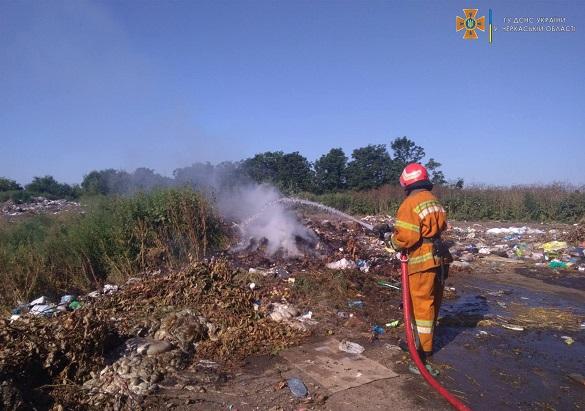 За вихідні на Черкащині сталось чотири пожежі сухої трави та сміття