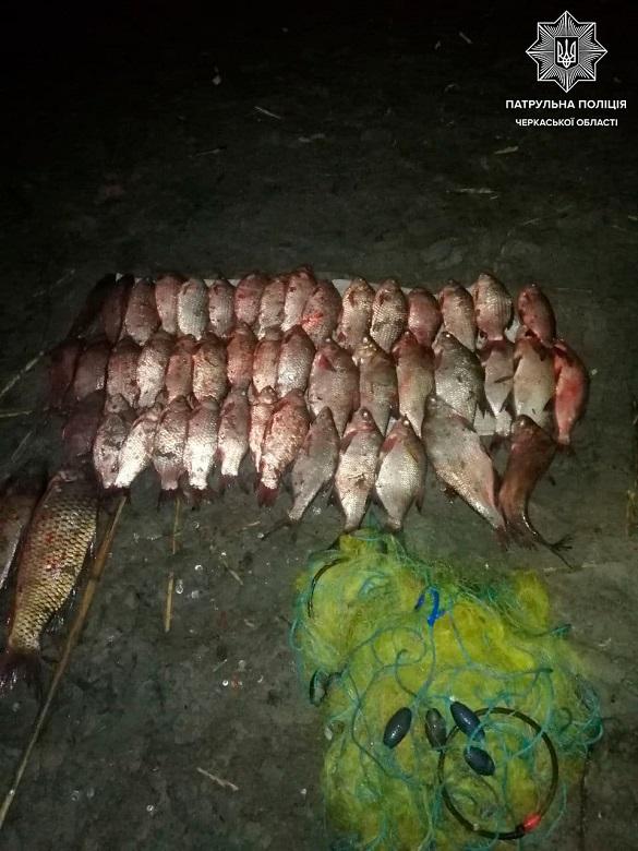 На Черкащині затримали браконьєра, який ловив рибу сіткою (ФОТО)