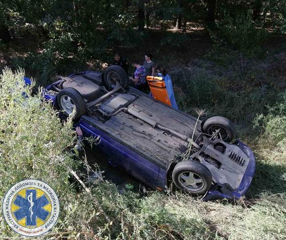 На Черкащині автомобіль злетів у кювет: двох пасажирок госпіталізували до лікарні (ФОТО)