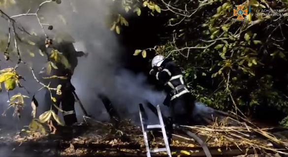 Пожежу житлового будинку на Черкащині ліквідували рятувальники (ВІДЕО)