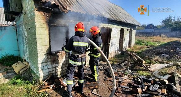Дитячі пустощі на Черкащині призвели до пожежі