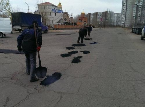 Жахливі дороги черкаської Митниці трохи підлатали