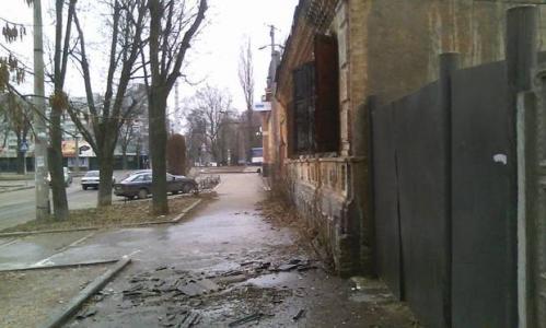 У центрі Черкас горів старий будинок