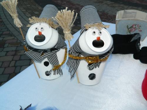 Черкаська майстриня робить сніговиків із бляшанок (ФОТО)