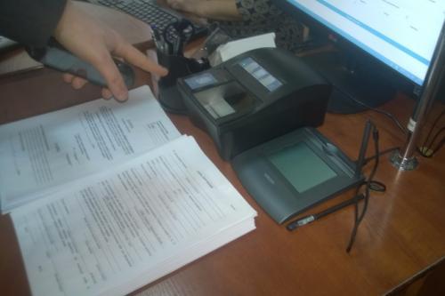 У Черкасах  почали оформлювати перші біометричні паспорти