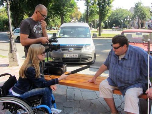 Про незрячих людей у Черкасах зняли фільм
