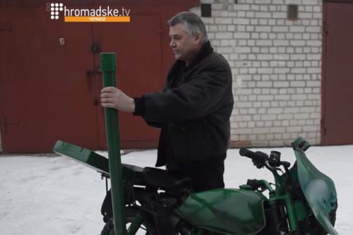 Cмілянський майстер обладнав мінометом мотоцикл (ВІДЕО)