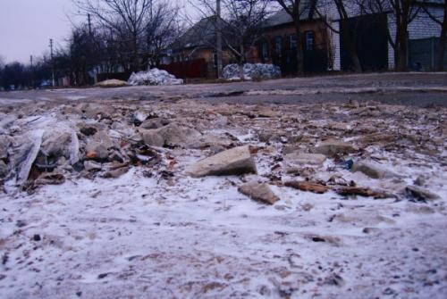 """Деякі вулиці в Черкасах наче після """"бомбардування"""""""