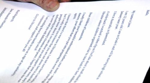 Австралійська школярка написала черкаським дітям листа