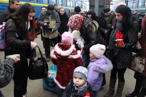 На територію Черкащини щодня прибувають переселенці із зони АТО