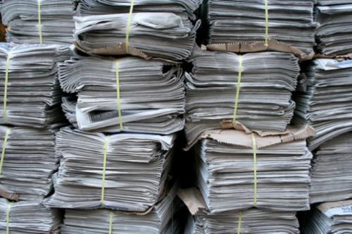 Щоб допомогти бійцям черкаські діти назбирали дві тонни макулатури