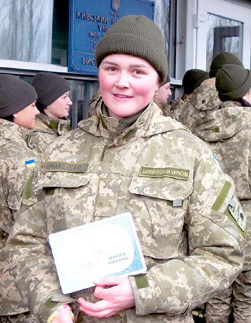 Військова журналістка з Черкащини має звання лейтенанта