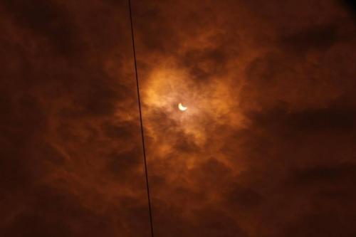 Яким було сонячне затемнення у Черкасах (ВІДЕО)