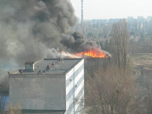 У Черкасах горіла Академія пожежної безпеки (ФОТО)